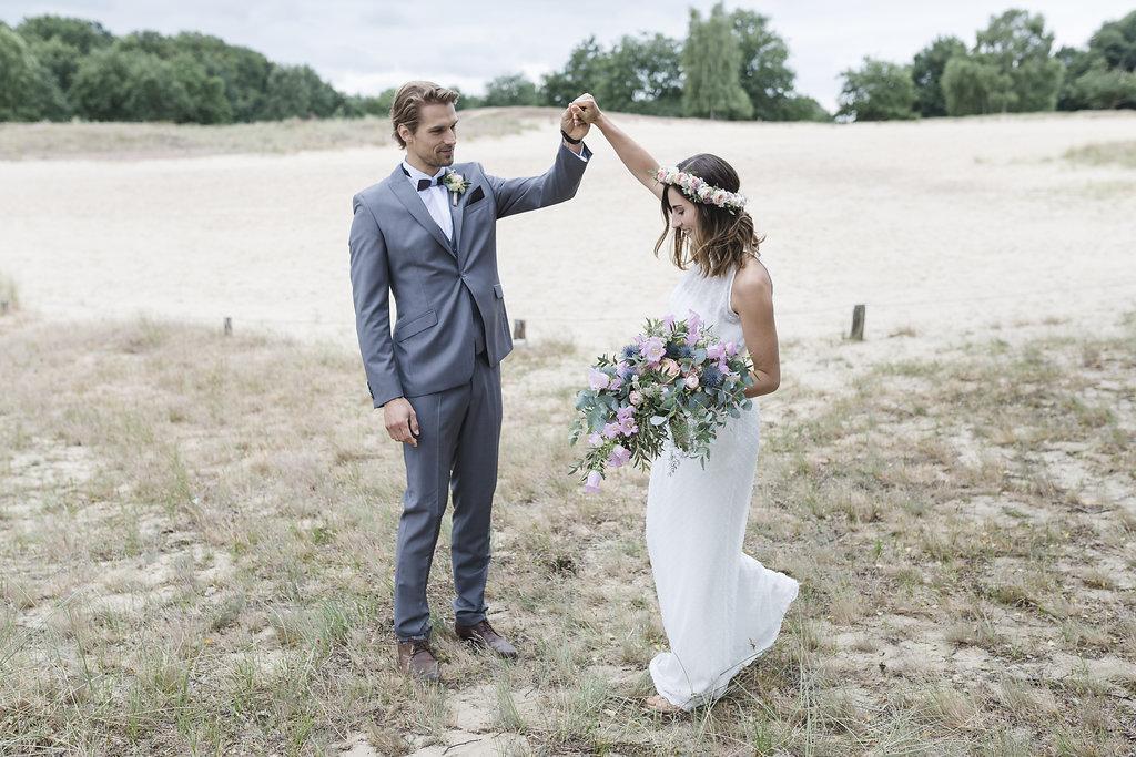 Hochzeitsplanung Brautpaar First Look