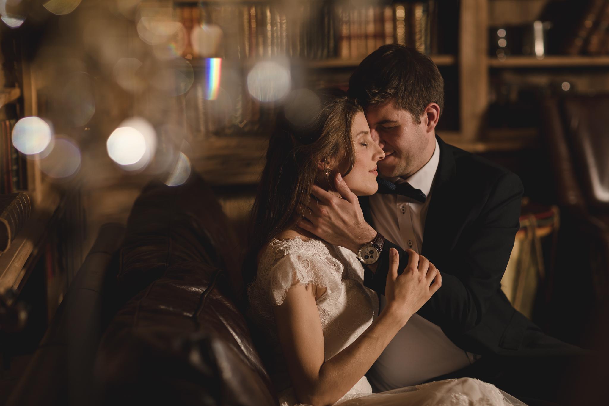Winterhochzeit, Romantik, Brautpaar